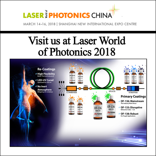 Visit us at Laser World of Photonics CHINA 2018, presenting our LM-136-EA Recoating